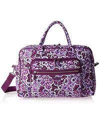 Vera Bradley - Iconic Weekender Travel Bag, Signature Cotton - Lyst