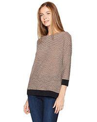 Jones New York - Drop Shoulder Easy Body W/knit Rib Trim - Lyst