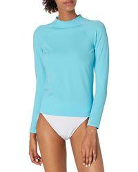 Amazon Essentials Upf 50+ Long-sleeve Rash Guard - Blue