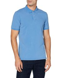 Scotch & Soda Garment Dyed Stretch Polo - Blu