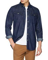 G-Star RAW 3301 Slim Shirt Camicia in Jeans - Blu