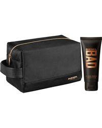 DIESEL Designer Bad Intense Travel Toiletry Wash Bag With Shower Gel 100ml - Black