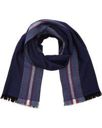 Hackett Schal Side Striped Scarf - Blau