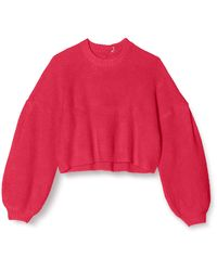 FIND Tie Back Jumper With Balloon - Red