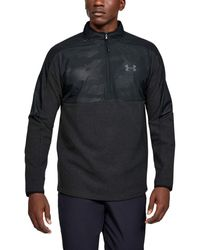 Under Armour ColdGear Infrarot 1/2 Zip Sweatshirt T-Shirt - Noir