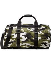 Michael Kors Kent Camo Backpack Duffle Bag - Green