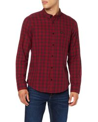 Lee Jeans Button Down Camicia - Rosso