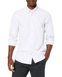 Scotch & Soda NOS Crispy Poplin Shirt Regular Fit Button Down Collar Camicia - Bianco