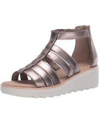 Clarks Jillian Nina Wedge Sandals - Metallic