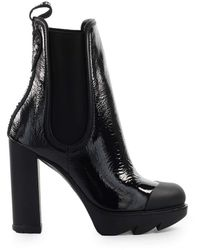 Love Moschino Naplak Heeled Ankle Boots - Black