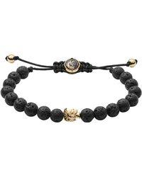 DIESEL Steel/lava Bracelet Color: Gold/black Lava