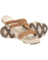 Mountain Warehouse Chaussures Respirantes - Doublures en néoprène - Semelle en Microfibre - Sangle réglable - Idéales pour Le Sport Marron