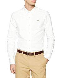 Lacoste Camisa para Hombre - Blanco