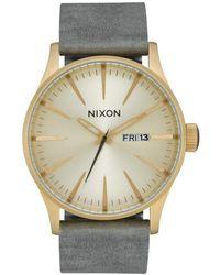 Nixon Sentry A1052982 Quarzwerk Uhren - Mettallic