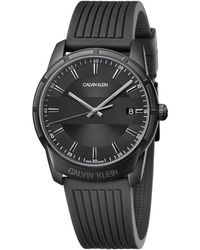 Calvin Klein Reloj para de con Correa en Caucho K8R114D1 - Negro