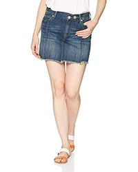 True Religion Fashion Mini Skirt - Blue