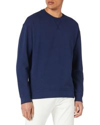 Benetton Maglia G/c M/l 3em5j19d7 Hooded Sweatshirt - Blue