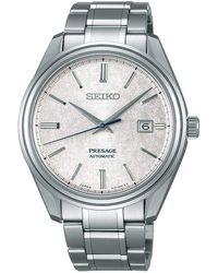 Seiko Presage orologio Uomo Analogico Automatico con cinturino in Acciaio INOX SJE073J1 - Metallizzato