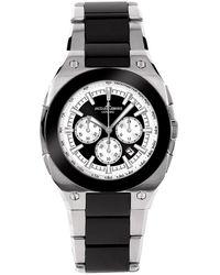 Jacques Lemans 1523B - Montre - Quartz - Chronographe - Bracelet Céramique - Métallisé