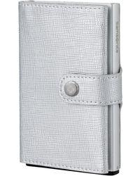 Samsonite Wallet   Premium Alu Fitl Leather   Slide-up Case   Rfid & Nfc Protector - Grey