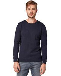 Tom Tailor Basic Rundhalspullover' Pullover - Blau