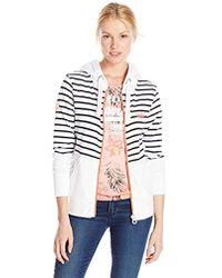 Superdry - Sun And Sea Stripe Lite Zip Hood Sweatshirt - Lyst
