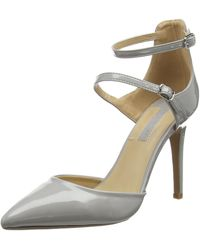 Dorothy Perkins Gizmo Multi Buckle Court Ankle Strap Sandals - Grey