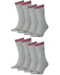 Tommy Hilfiger Socken Iconic Sport 8er Pack - Grau