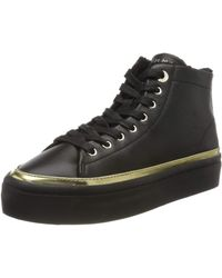 Tommy Hilfiger Midcut Cosy Leather Trainer Hi-top Trainers - Black