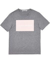 Calvin Klein Jeans Shirt INSTITUTIONAL Box Logo Tee schwarzS