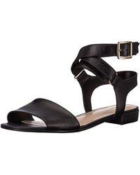 Nine West - Inch Leather Flat Sandal - Lyst