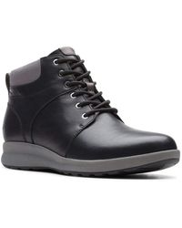 Clarks Un Adorn Walk s Wide Fit Lace Ankle Boots Schwarz 37.5 EU