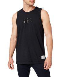 Tommy Hilfiger Tjm Tonal Box Logo Tank T-shirt - Black