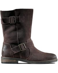 Clarks Demi Flow Suede Boots In Dark Brown Standard Fit Size 61⁄2