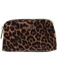 Guess Len 30 Beauty Bag Natural