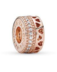 PANDORA - Plaqué or Charms et perles - 787415CZ - Lyst