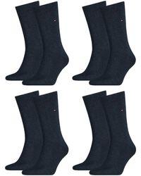 Tommy Hilfiger Classic Casual Business Socken 8er Pack - Blau