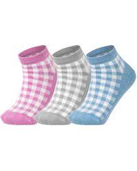 Esprit Pixel Checks 3-Pack Calcetines - Multicolor