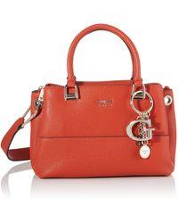 Guess Lila, 's Top-handle Bag, Orange - Red