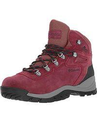 Columbia Newton Ridge Plus Waterproof Amped Hiking Shoe - Red