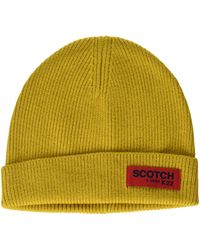 Scotch & Soda Classic Rib Knit Beanie Baseball Cap - Gelb