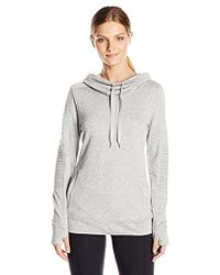 Steve Madden - Moto French Terry Funnel Neck Pullover - Lyst