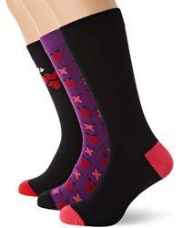DIESEL Hermine 3-Pack Printed Legere Socken - Mehrfarbig