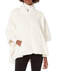Calvin Klein Shawl Poncho - White