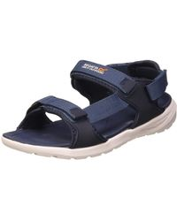 Regatta Marine Web' 3 Points Adjustment Removable Heel Strap Shock Absorbing Eva Footbed Sandals Sport - Blue
