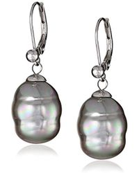 Majorica - 12 Mm Simulated Baroque Pearl Drop Earrings - Lyst