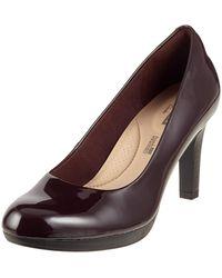 Clarks Adriel Viola Closed-toe Court Shoes - Multicolour