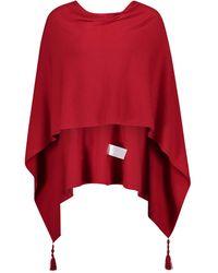 Betty Barclay 3800 2983 4635 modischer Poncho mit Quasten Uni Handwäsche - Rot