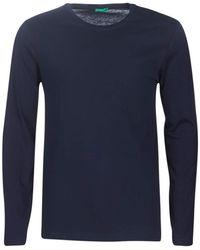 Benetton T-shirt M/l Jumper - Blue