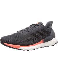 adidas Solar Boost 19 W, Chaussure de Course , Core Black/Carbon/Grey Five - Gris